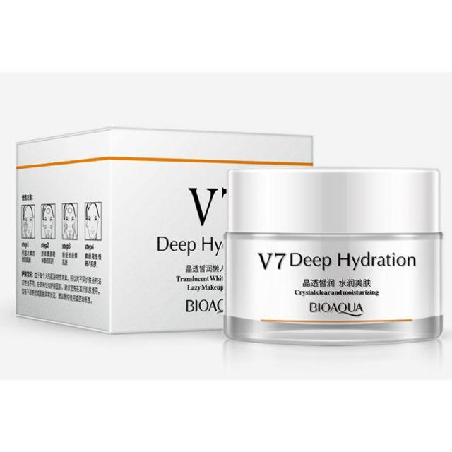 کرم سفید کننده و مرطوب کننده صورت کریستالی 7ویتامینه بیوآکواv7 deep hydration crystal clear and moisturizing bioaqua